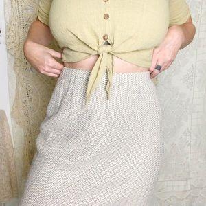 St. John | oatmeal knit skirt